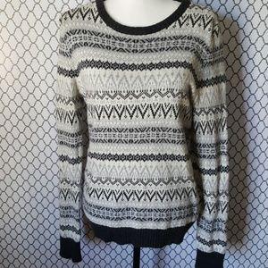 H&M LOGG Soft Fair Isle Alpaca blend Sweater SZ L